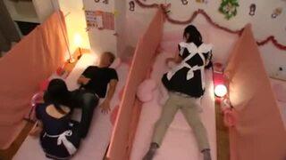 bimajo 9186 1 - リフレ業界の闇!メイドマッサージ店で少女たちが裏オプ発動!自分でマ〇コ弄るほどの痴女っぷり!