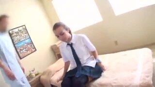 bimajo 9222 1 - リアル金髪JKが日本式マッサージをリアル体験☆マッサージ師のテクに感動し衝撃の中出しフィニッシュ!